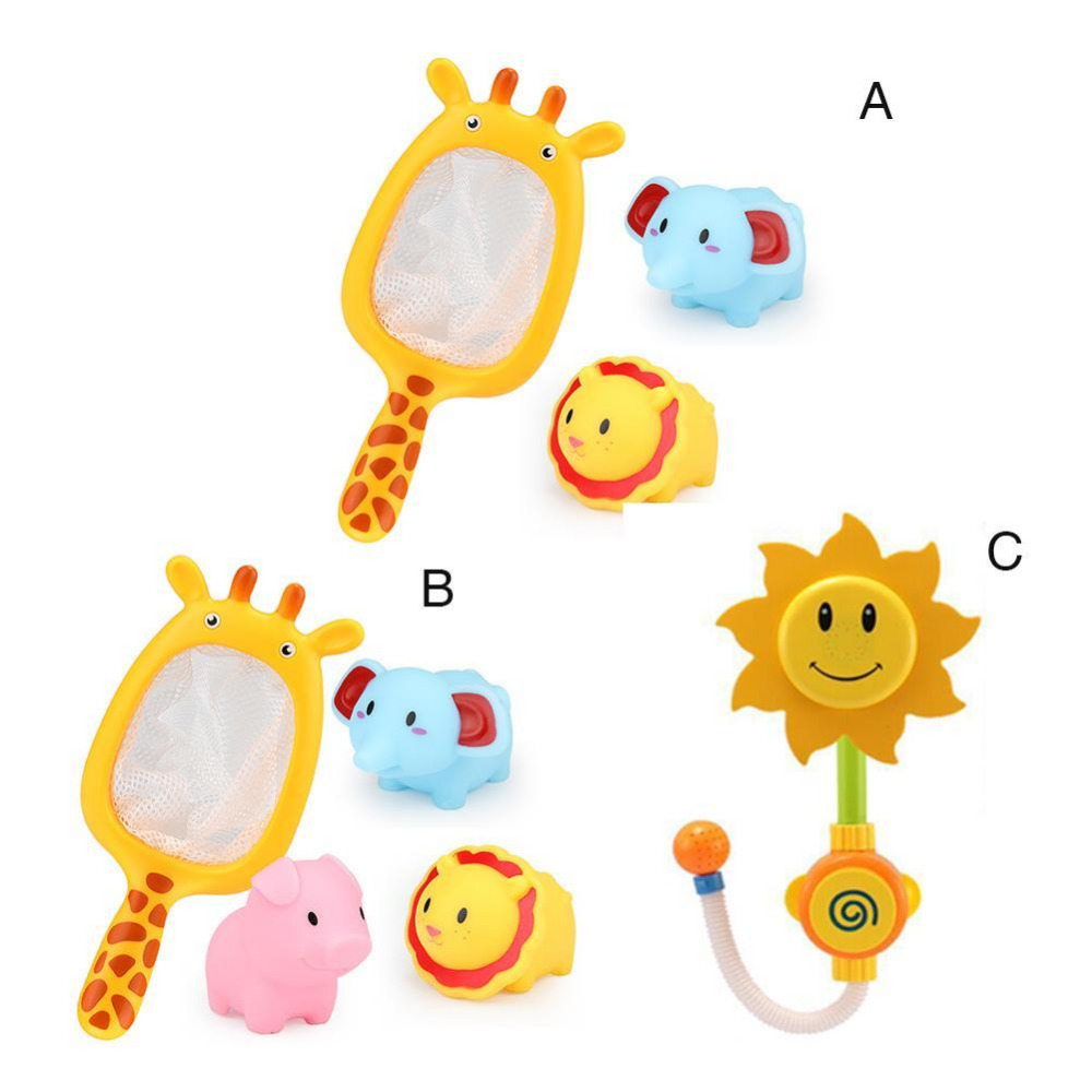 bath toys bath sunflower Bathroom Sunflower Shower Faucet toy in the bathtub Children Pool Swimming Toys kid Learning Toy Gifts