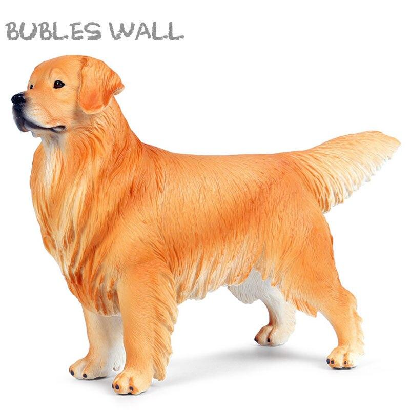 22 CM grand classique belle Golden Retriever figurines pour animaux de compagnie chien modèle Figurine PVC éducatif réaliste enfants jouet cadeau