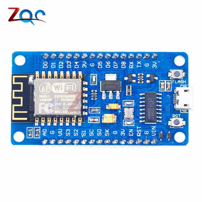 CH340G ESP8266 ESP-12E NodeMcu WIFI ไร้สายโมดูลการพัฒนาเครือข่าย Micro USB พอร์ต IO DC 4.5 -9V