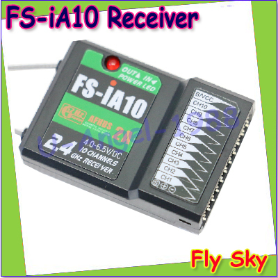 100% Original FLYSKY FS-iA10 FSiA10B 10 channel receiver with a serial bus interface iBus for RC Helicopter Plane Quadcopter