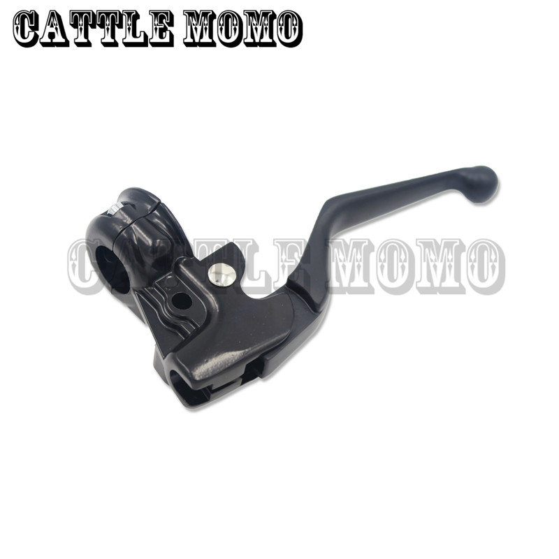 ФОТО Motorbike Clutch Levers Light Horns Seat For Harley XL883 XL1200 Motorcycle Black Clutch Lever assembly