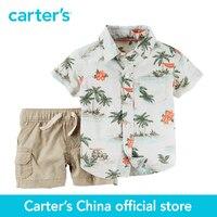 Carter S 2 Pcs Baby Children Kids Short Sleeve Top Shirt Shorts 127G135 Sold By Carter