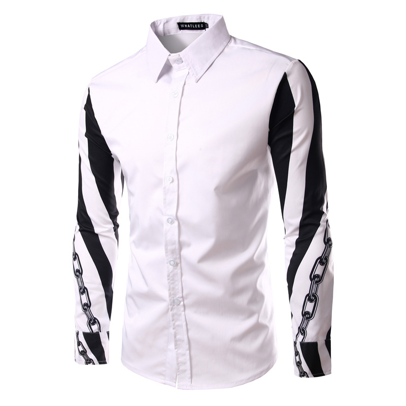 Online Get Cheap Black and White Stripe Fitted Shirt -Aliexpress ...