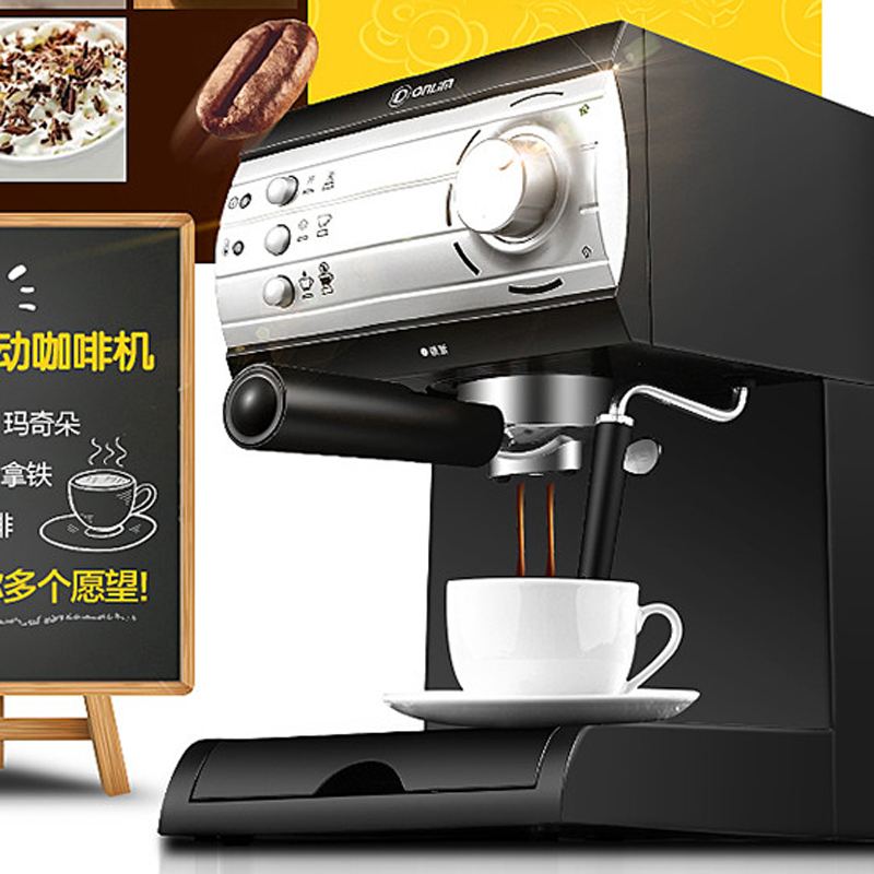 DL-KF6001 full semi-automatic office home pull flower steam Italian coffee machine new arrival dl kf6001 coffee machine home business italian semi automatic steam milk foam instant coffee machine 220v 850w hot