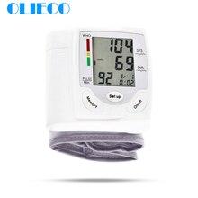 OLIECO cyfrowy dokładny ciśnieniomierz nadgarstkowy przenośne elektryczne LCD puls urządzenie do pomiaru rytmu serca ciśnieniomierz PR