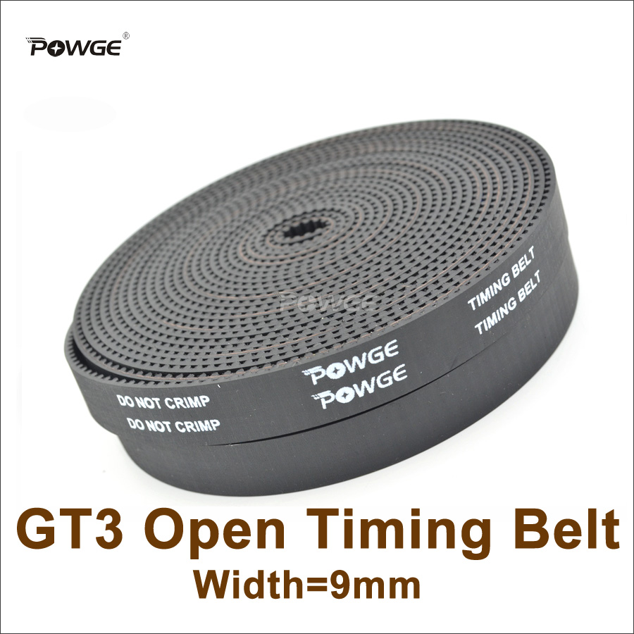 POWGE 10meters 3GT Synchronous BeltWidth 9mm 15mm Rubber GT3 9 Open Timing Belt Fit 3GT Pulley