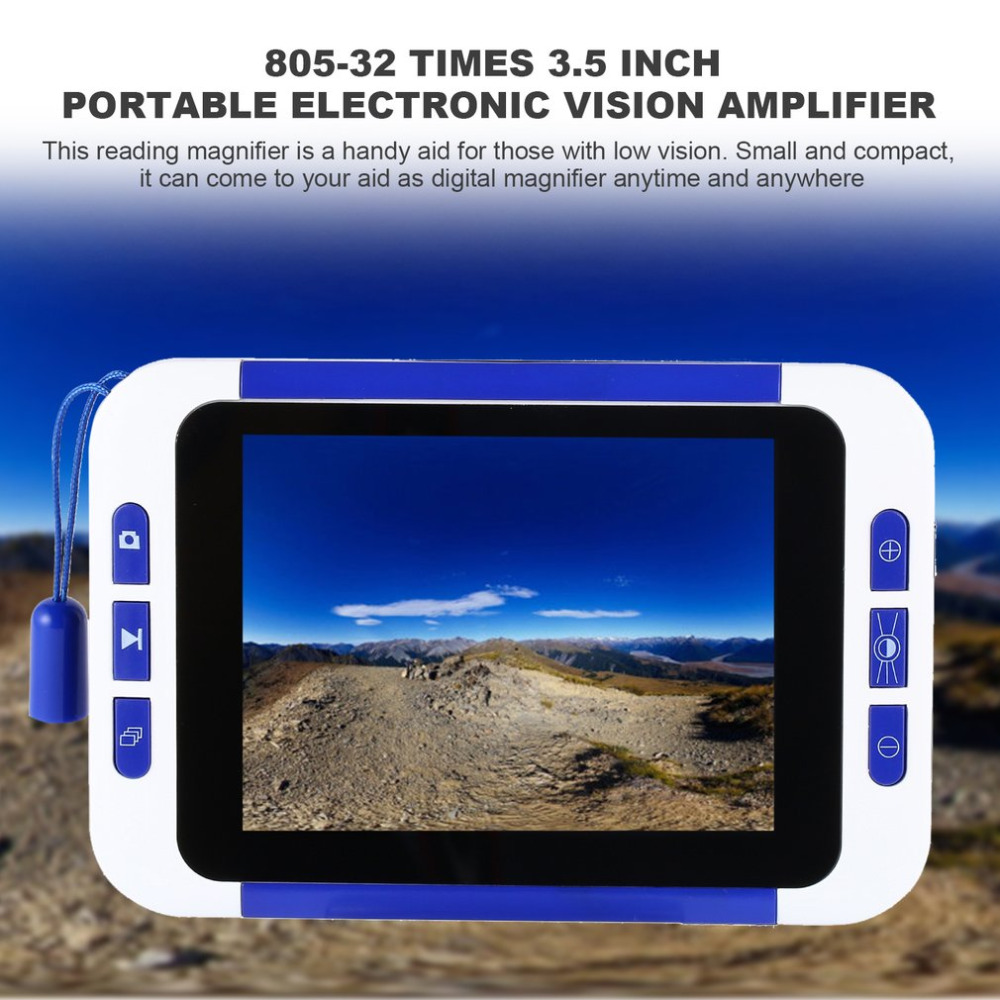 New 3.5 Inch 32X Zoom Handheld Portable Video Digital Magnifier Electronic Reading Aid Pocket-Sized Camera Video Magnifier 2018 low vision 5 inch screen pocket video magnifier reading aid video digital magnifier portable handheld electronic microscope