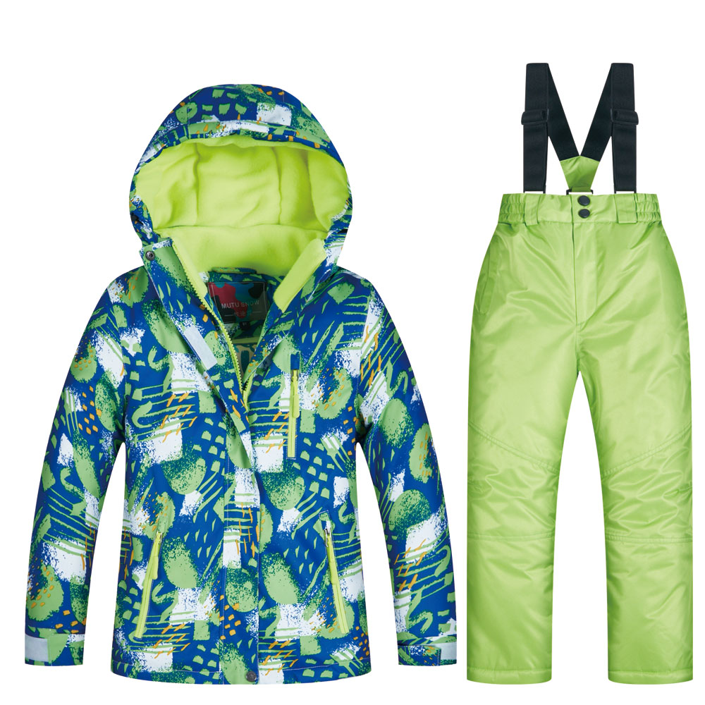 Ski Suit Boy Winter Children's Windproof Waterproof Super Warm Snow Skiing And Snowboarding Jacket And Pants Boys Winter Jacket