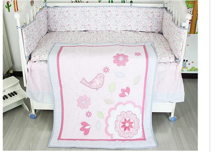 Baby Girl Cot Bed Bedding Sets