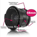 Lightdow 0.35x 58mm Super Fisheye Wide Angle Lens+Macro lens for 58mm Canon 70D 60D 7D 6D 700D 650D 600D 550D 500D 1100D 1000D
