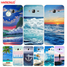 HAMEINUO blue sea wave beach summer cover phone case for Samsung Galaxy J1 J2 J3 J5 J7 MINI ACE 2016 2015(China)