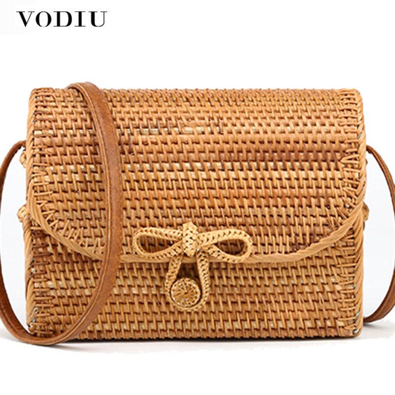 Bali Rattan Bag Summer Bohemian Straw Bag For Ladies Rattan Handbags With Butterfly Buckle Beach Handbags Women Top-handle Bags 2017 women bohemian handmade knitting straw bags ladies floral beach handbags summer rattan bag bolsa feminina sac a main