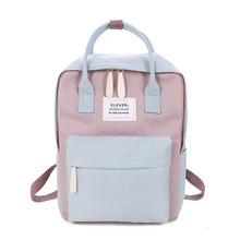 Women Backpack Classic Canvas Backpacks Candy Color Waterproof  School Bags for Teenagers Girls H30