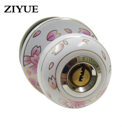 Free  Shipping Romantic Cherry Door Lock European Garden All Ceramic Ball пуф dreambag круг cherry