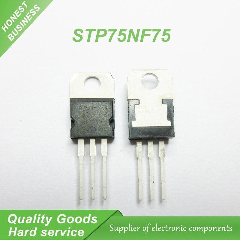 20pcs/lot P75NF75 STP75NF75 FET 75NF75 motor controller DIP TO-220 new original