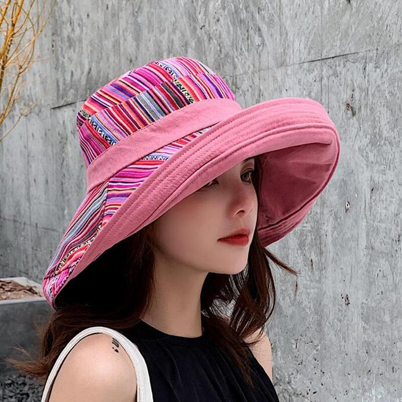 HTB15tpcJCzqK1RjSZPcq6zTepXao - Double sided irregular Pattern Bucket Hat Women Summer Cotton Breathable Leisure Bob Caps Outdoor Sports Casual Dome Panama Cap