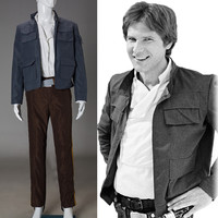 Cosplay Star Wars Costume Han Solo Halloween Full Set Party Halloween Costume
