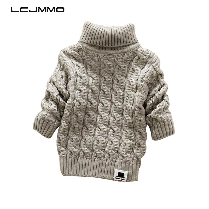 LCJMMO Toddler Girls Sweaters 2018 Winter Warm Kids Boys Sweaters Knit Pullover Baby Girl Sweater Outerwear Clothing 80-105cm