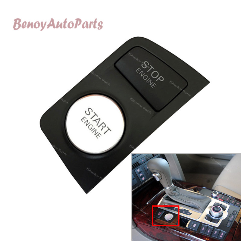 New 4F1905217E Chrome Start Stop Engine Button Switch For AUDI A6 C6 S6 RS6 2009 2010 2011 4F1 905 217E-in Car Switches & Relays from Automobiles & Motorcycles    1