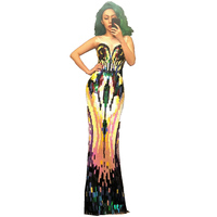 Sparkly Colorful Sequins Dress Women Stretch Slim Evening Wear Female Singer Outfit Birthday Long Dress Party Stage Sexy Dresses
