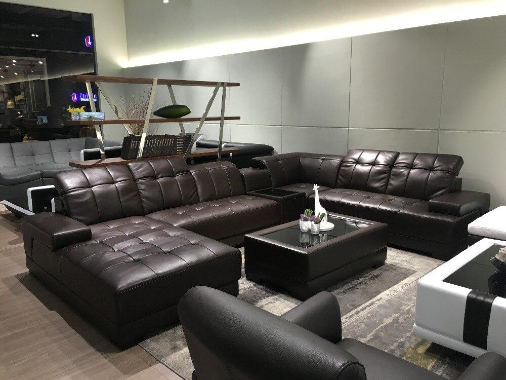 Grote Hoekbank Leer.Moderne Woonkamer Sofa Met Grote Hoekbank Set Sofas For Living