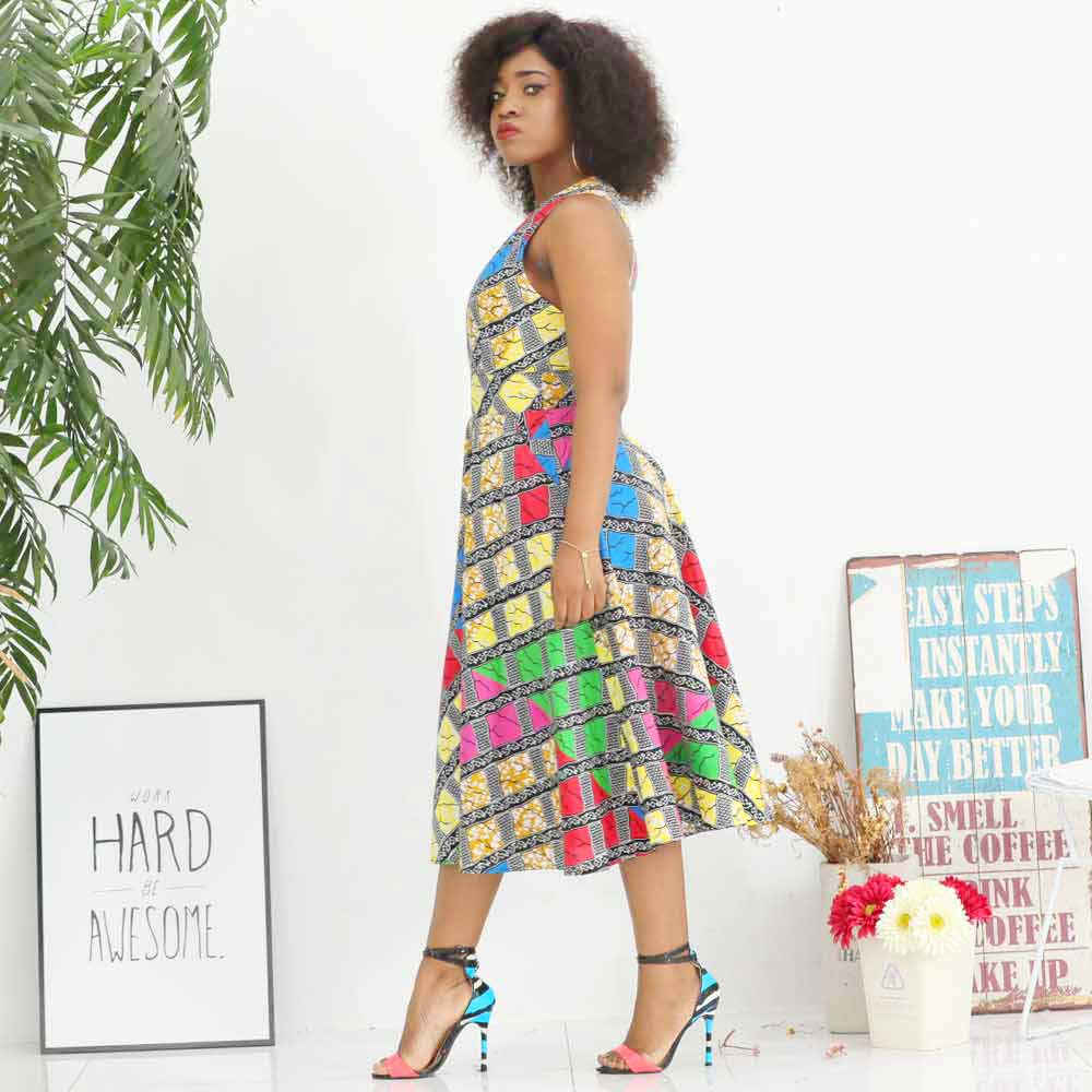 african dresses for women ankara clothing sleeveless dress Print african sexy dress in Africa Clothing from Novelty Special Use