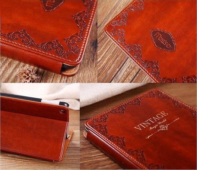 Solque Retro Vintage Leder Flip Smart Cover Fall für iPad Mini 2 Mini2 7,9 Tablet PC Luxury Ultra Slim Ständer hard Shell Cases