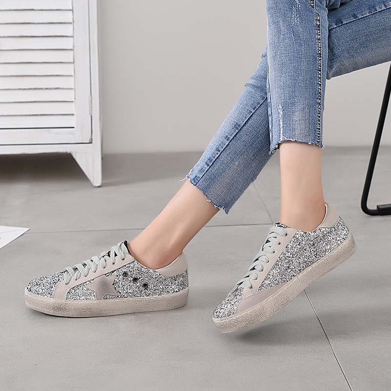 pink Paillettes 1 D'or Sneakers Chaude Bling green Cuir gold Vieux 1 Glitter Occasionnels Black white Pu Tenis Sale silver 1 Appartements silver 5 Femmes Ins 5 gold Ne 2 4 3 leopard Étoiles 4 white 2 Chaussures red Bomlight 4 Gray qZ1TwOFxR