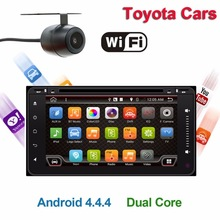 2 din Android 4.4 All Touch 200*100 Car DVD Radio Stereo Video Player GPS For Toyota Hilux VIOS Camry Corolla Prado RAV4 Prado