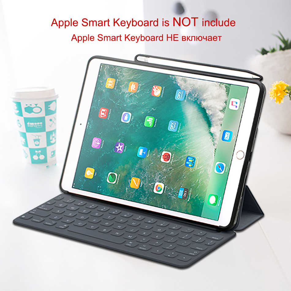 big sale b9262 00a21 WOWCASE Pencil Holder Cases For iPad Pro 10.5 Luxury Casual PU Leather  Silicon Back Cover Protector For Apple iPad Air 3 Case