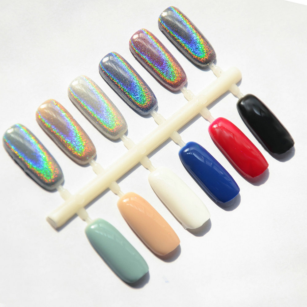 2g MIRROR POWDER NAILS Holographic Nail Vtirka Chrome Nail Powder ...