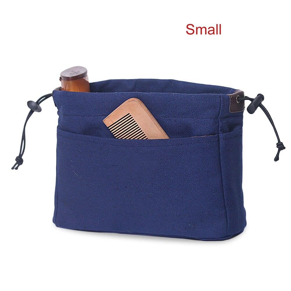 Newly Canvas Purse Organizer Bag Organizer Insert With Compartments Makeup Travel Storage Handbag DOD886