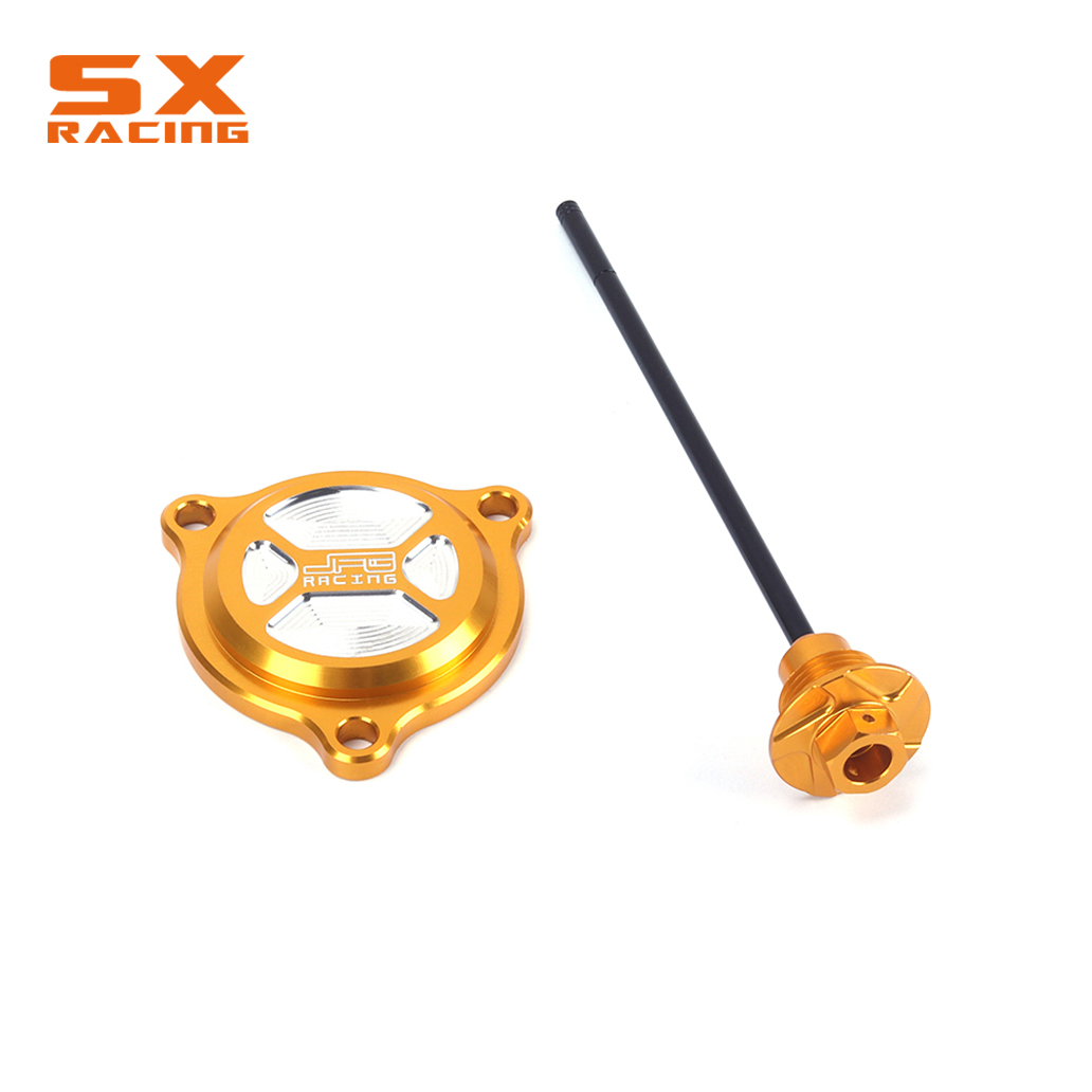 Gold CNC Oil Dipstick Engine Plugs Filter Cover Set For SUZUKI DRZ400S/SM DRZ400S DRZ400SM DRZ 400S 400SM S SM