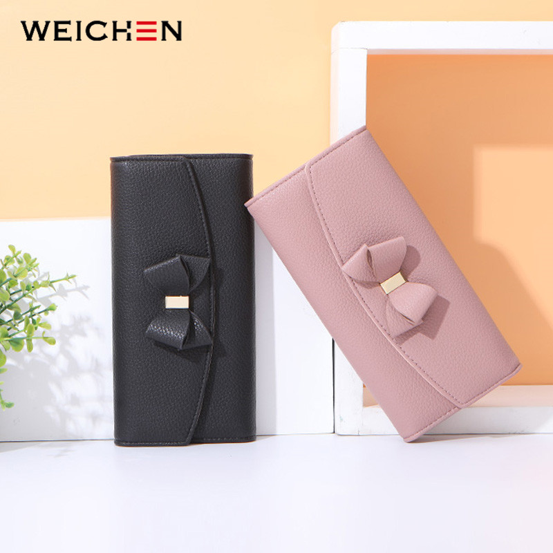 WEICHEN Clutch Wallets Card-Holder Element Phone-Pocket Women Purse Large-Capacity Female