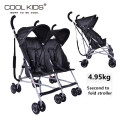 Lightest twin stroller  Baby Carriage Coolkids Baby Stroller Portable Car Umbrella Suspension Folding Child Twins Trolley