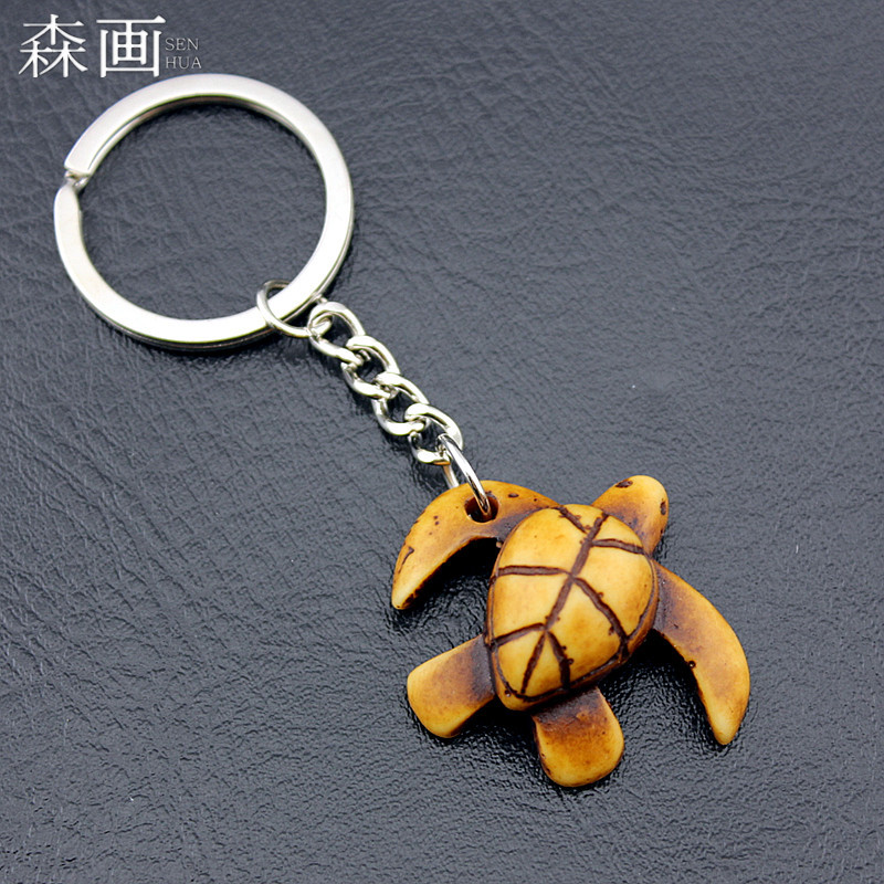 Cute Tortoise Key Chains Hawaiian Surfers Sea Turtles