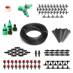 2-in-1 Spray Drop Irrigation 40m Hose Automatic Drip Irrigation Kit for Garden Flowerbed Plants HG99