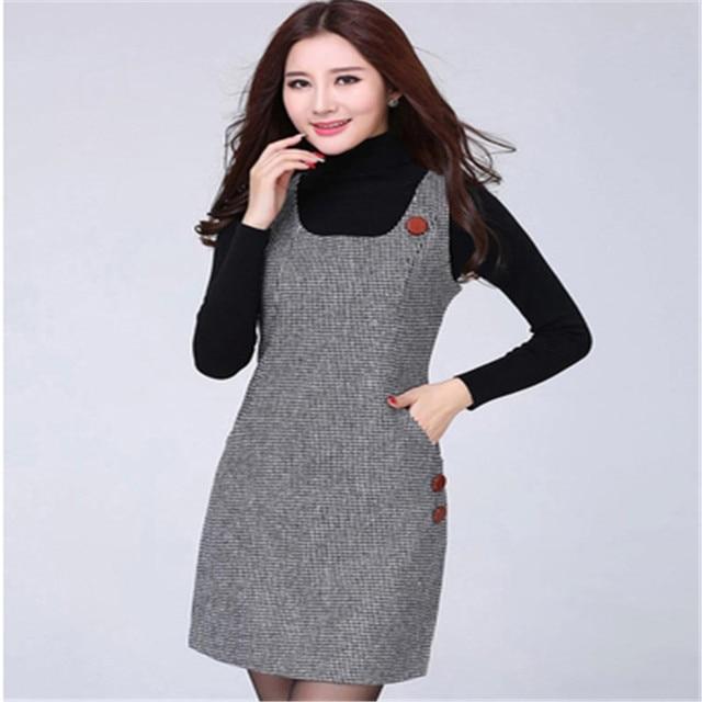 Vestido de lana de mujer