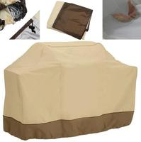 Beige BBQ Grill Cover Gas Barbecue Heavy Duty Waterproof Outdoor For Weber Patio|Car Covers|   -