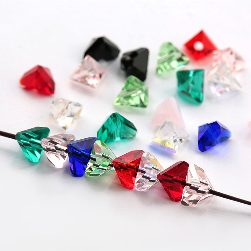 Super shiny 8mm Irregular triangle beads Austria glass beads beads for Jewelry making Bracelet Earrings Accessories 25pcs lot in Beads from Jewelry Accessories