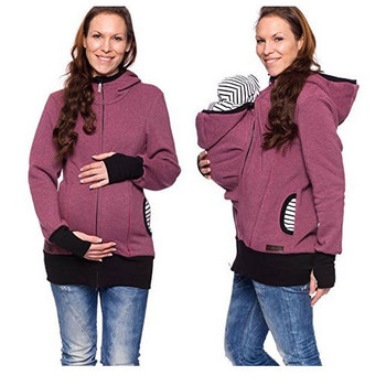 Mother S Winter Warm Kangaroo Baby Carrier Backpack Coat Sling Baby