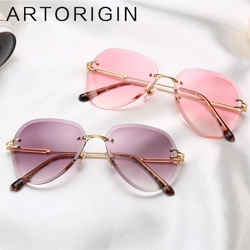 Trend Vintage Aviator Sunglasses Women Transparent Clear Glasses Rimless Pilot Sun Glasses For Women Female Shades Eyewear 3025