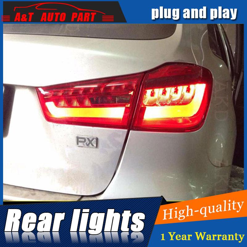 Стайлинга автомобилей задние фонари для Мицубиси ASX ASX и Новый светодиодный задний фонарь Аутлендер экс светодиодные задние лампы ДРЛ+Тормозная+Парк+сигнала светодиодные фонари