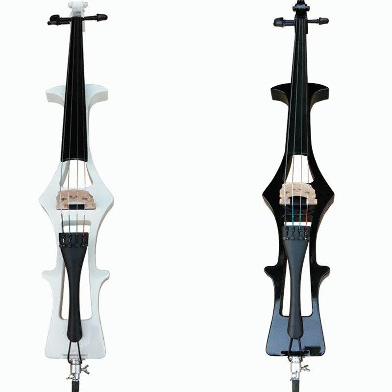 ZONAEL Electric Cello 4/4 Cool Handmade Black Electronic Cello Electric Cello Ultra Long Mount Basswood Music Entertainment