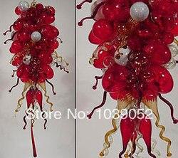 Szkło artystyczne oświetlenie ręcznie dmuchanego kryształowy żyrandol ze szkła części w kolorze czerwonym