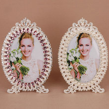 Fashion pearl decoration photo frame  metal