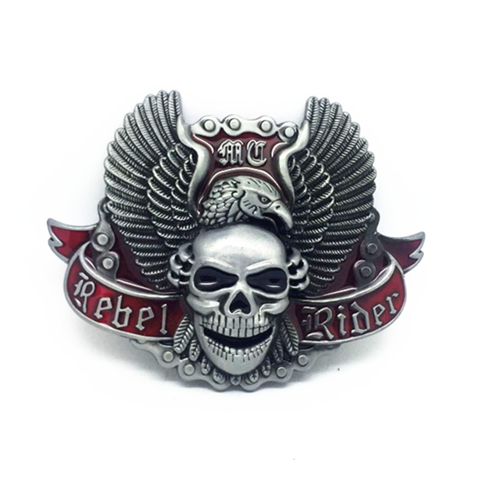 Fashion Skull Belt Buckle Metal Zinc Alloy Casual Buckle For Men Antique Silver Cowboy Retail Buckle For Men Apparel Accessorie