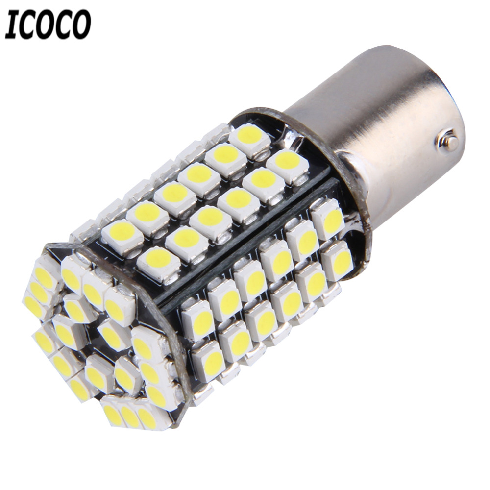 ICOCO Engergy Saving Super White 1156 BA15S P21W Xenon LED Light 80 SMD Auto Car Xenon L ...