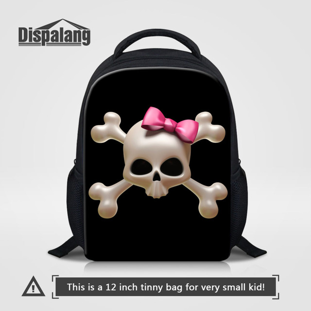 d37c08bed6ea Dispalang Mini School Bags for Kindergarten Girls boys Cute Skull Print  Kids Children Backpack Baby Book