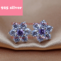 PJE028 Free Shipping fashion women snowflake earrings with crystal Gorgeous earring Latest Fashion Trendy jewelry